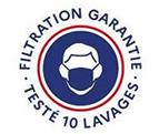 Filtration Garantie - Testé 10 lavages