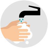 Lavez-vous les mains régulièrement